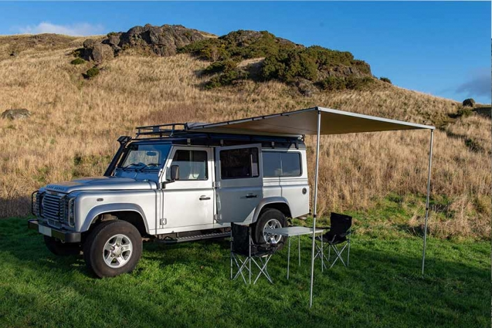 Wild Camping Land Rover Defender Scotland