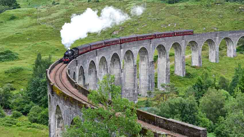 Glenfinnan Viaduct Scottish road trip map