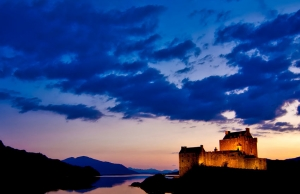 Night time castle - visit Scotland by Campervan
