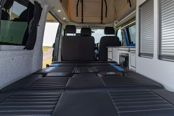 VW transporter campervan double bed