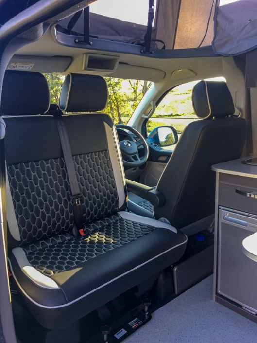 vw transporter campervan interior