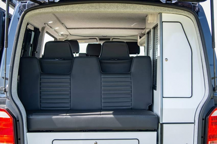 VW Transporter Campervan rear seat options