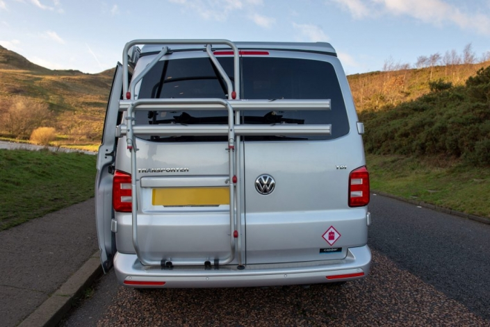vw transporter rental bike rack